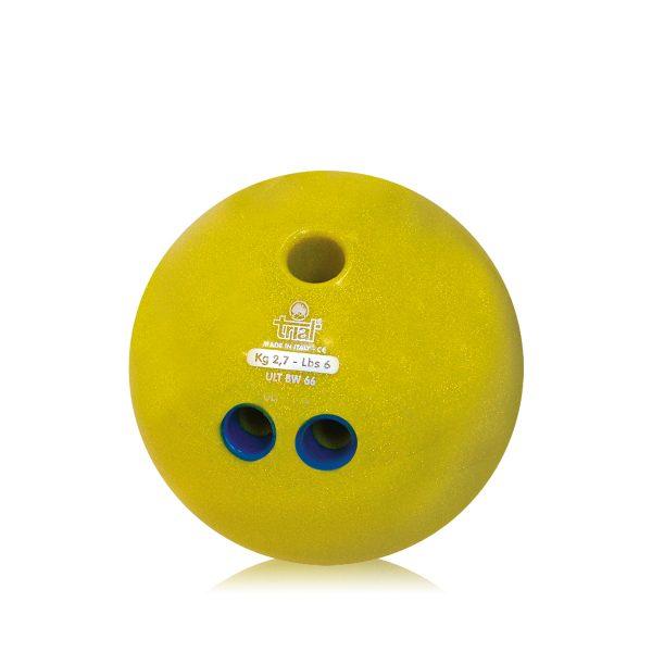 Palla da Bowling dotata di doppia impugnatura - glitterata