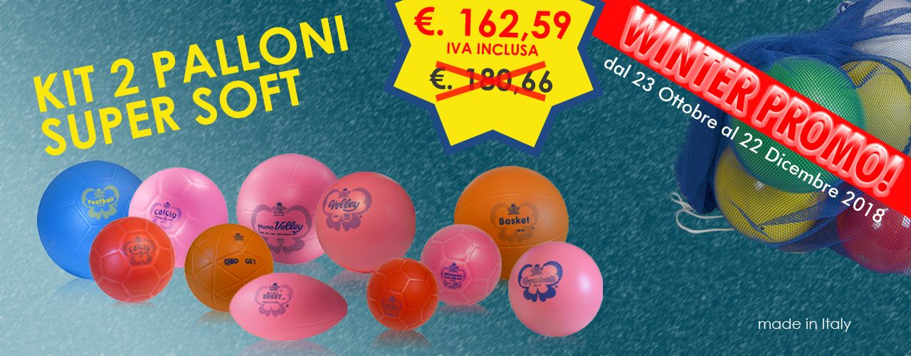 KIT 2 PALLONI SUPER SOFFICIDimensionata
